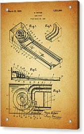 1925 Skee Ball Patent Acrylic Print