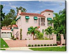 Acrylic Print featuring the photograph 1926 Florida Northern Italian Renaissance Style Home  -  1926noritalrennasfl172169 by Frank J Benz