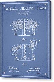 1926 Football Shoulder Guard Patent - Light Blue Acrylic Print