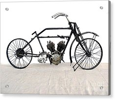 Acrylic Print featuring the photograph 1926 James Model V Twin by Pg Reproductions