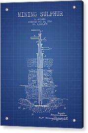 1926 Mining Sulphur Patent En37_bp Acrylic Print