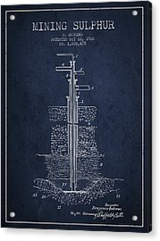 1926 Mining Sulphur Patent En37_nb Acrylic Print