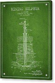 1926 Mining Sulphur Patent En37_pg Acrylic Print