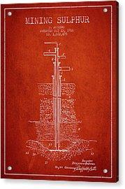 1926 Mining Sulphur Patent En37_vr Acrylic Print