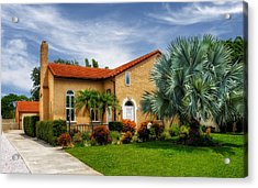 1926 Venetian Style Florida Home - 28 Acrylic Print by Frank J Benz