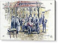 1926 Zbraslav Jiloviste Start Bugatti T13 Brescia. Acrylic Print