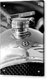 1927 Bentley Hood Ornament 2 Acrylic Print