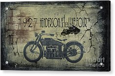 1927 Henderson Vintage Motorcycle Acrylic Print by Cinema Photography