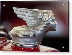 1928 Buick Custom Speedster Hood Ornament Acrylic Print by Jill Reger