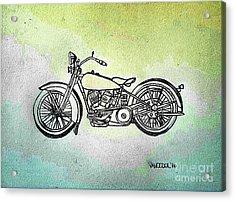 1928 Harley Davidson Motorcycle - Abstract Acrylic Print by Scott D Van Osdol