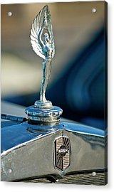 1928 Nash Coupe Hood Ornament Acrylic Print by Jill Reger