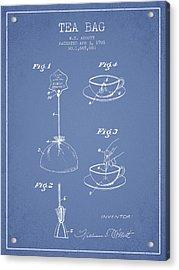 1928 Tea Bag Patent - Light Blue Acrylic Print