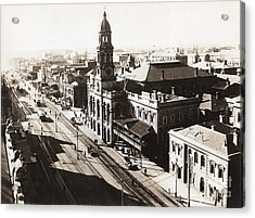 1928 Vintage Adelaide City Landscape Acrylic Print by Jorgo Photography - Wall Art Gallery