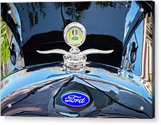 Acrylic Print featuring the photograph 1929 Ford Model A Hood Ornament  by Rich Franco