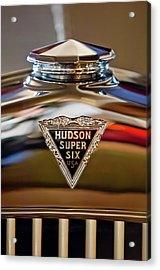 1929 Hudson Cabriolet Hood Ornament Acrylic Print by Jill Reger