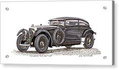 1930 Bentley Blue Train Coupe Acrylic Print by Jack Pumphrey