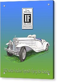 1930 Isotta Fraschini Tippo 8 A Flying Star Roadster Acrylic Print by Jack Pumphrey