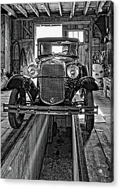 1930 Model T Ford Monochrome Acrylic Print by Steve Harrington