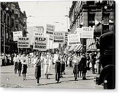 1930 Rally In Roxbury Boston Acrylic Print