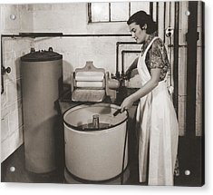 1930s State Of The Art Home Laundry Acrylic Print by Everett