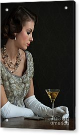 1930s Woman With A Cocktail Glass Acrylic Print
