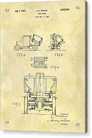 1931 Dump Truck Patent Acrylic Print
