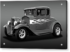 Acrylic Print featuring the photograph 1931 Ford Model A 5 Window Coupe  -  1931ford5winmdlacpebw172189 by Frank J Benz