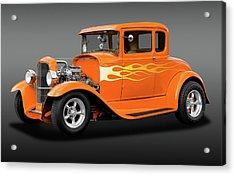 Acrylic Print featuring the photograph 1931 Ford Model A 5 Window Coupe  -  1931fordmdlacoupefa172189 by Frank J Benz