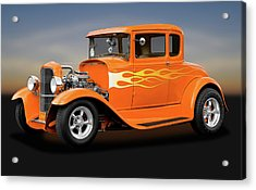 Acrylic Print featuring the photograph 1931 Ford Model A 5 Window Coupe  -  1931fordmodela172189 by Frank J Benz