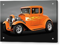 Acrylic Print featuring the photograph 1931 Ford Model A 5 Window Coupe  -  1931modelafordgry172189 by Frank J Benz