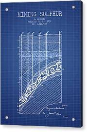 1931 Mining Sulphur Patent En38_bp Acrylic Print