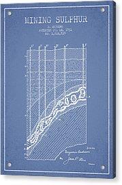 1931 Mining Sulphur Patent En38_lb Acrylic Print