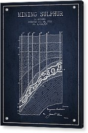 1931 Mining Sulphur Patent En38_nb Acrylic Print