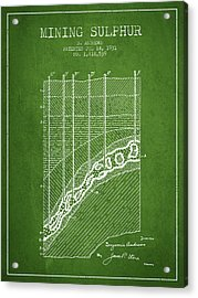 1931 Mining Sulphur Patent En38_pg Acrylic Print