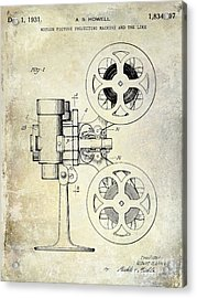 1931 Movie Projector Patent Acrylic Print