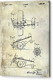 1931 Toy Airplane Patent Acrylic Print
