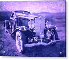 Acrylic Print featuring the photograph 1932 Auburn Speedster Violet Grunge by David King