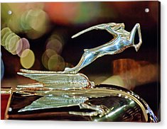 1932 Chrysler Imperial Hood Ornament 1 Acrylic Print by Jill Reger