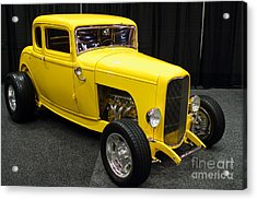 1932 Ford 5 Window Coupe . Yellow . 7d9275 Acrylic Print by Wingsdomain Art and Photography