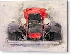 1932 Ford Roadster Red And Black Acrylic Print