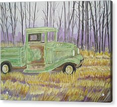 1932  Greenford Pickup Truck Acrylic Print by Belinda Lawson