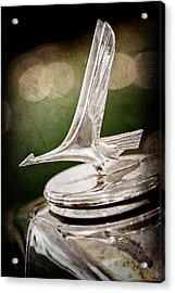 Acrylic Print featuring the photograph 1932 Studebaker Dictator Hood Ornament -0850ac by Jill Reger