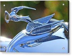 1933 Chrysler Imperial Hood Ornament 2 Acrylic Print by Jill Reger