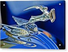 1933 Chrysler Imperial Hood Ornament Acrylic Print by Jill Reger