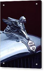 1933 Hudson Essex Terraplane Griffin Hood Ornament Acrylic Print by Carol Leigh