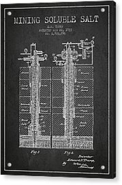 1933 Mining Soluble Salt Patent En40_cg Acrylic Print by Aged Pixel