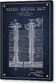 1933 Mining Soluble Salt Patent En40_nb Acrylic Print