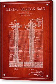1933 Mining Soluble Salt Patent En40_vr Acrylic Print