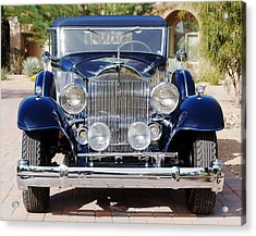 1933 Packard 12 Convertible Coupe Acrylic Print by Jill Reger