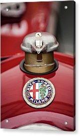 1934 Alfa Romeo Tipo B Hood Emblem Acrylic Print by Jill Reger